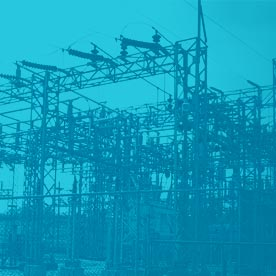 Stylized image of an electric substation