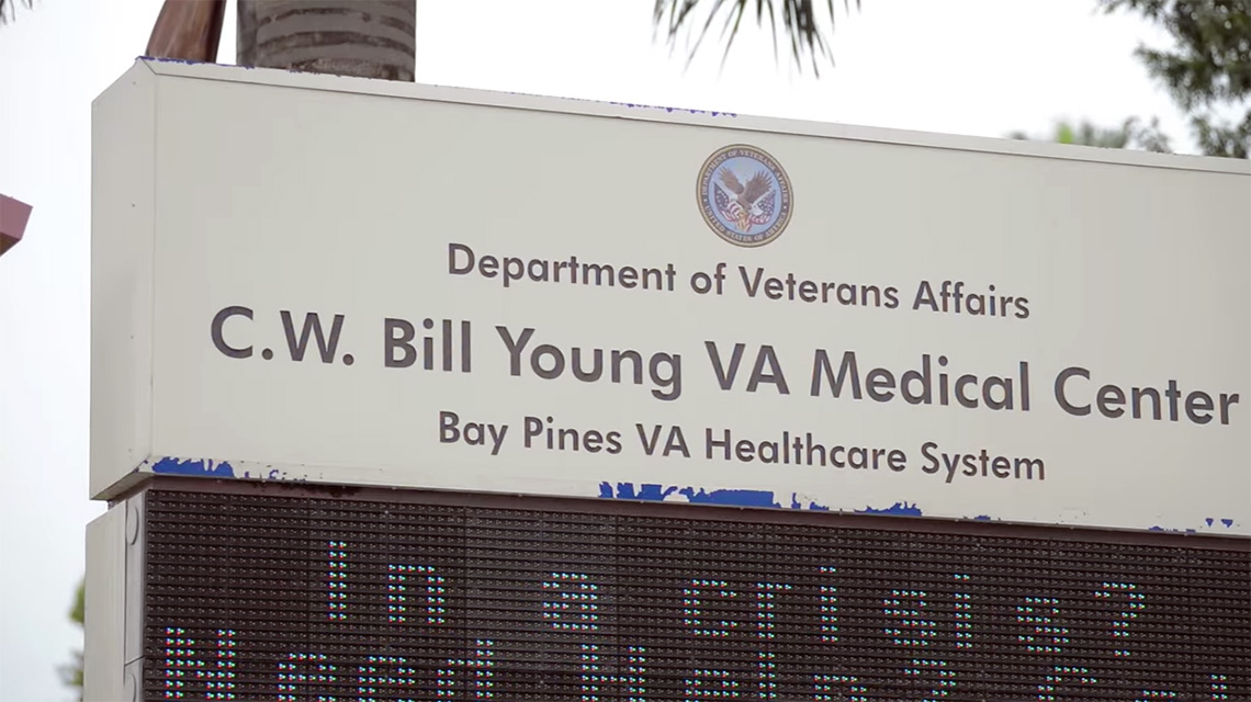 C.W. Bill Young VA Medical Center sign